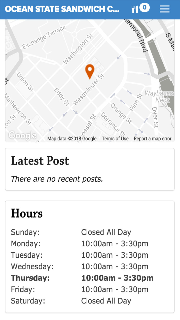 post hours available for delivery