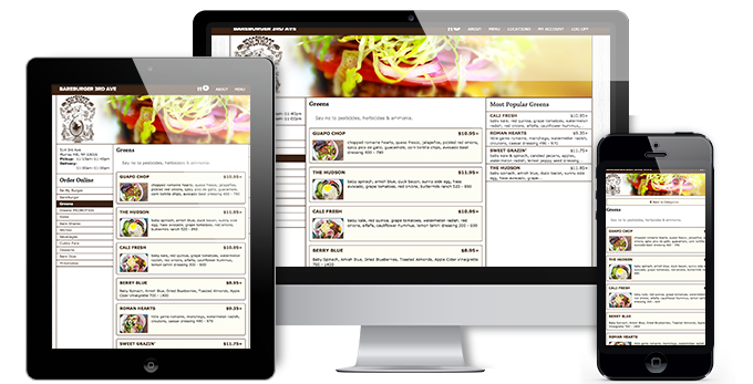 custom restaurant website